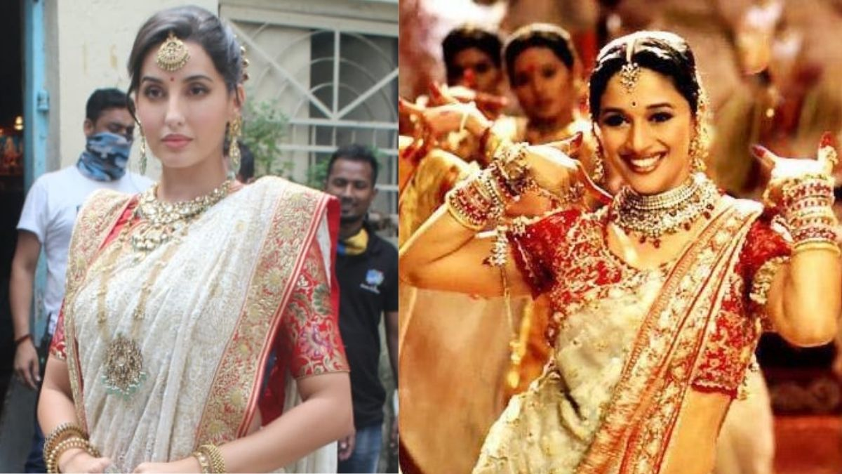 Nora Fatehi wants to be Madhuri Dixit? Recreates her appearance from the film 'Devdas'