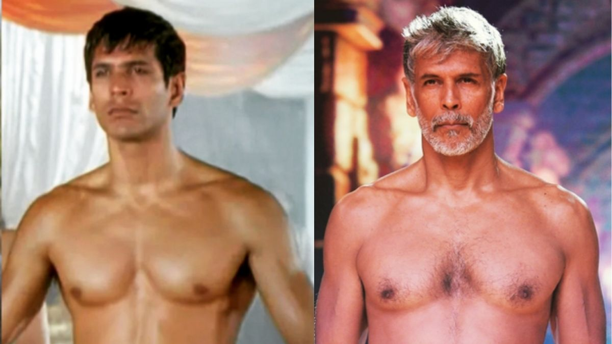 Milind Soman shares then and now pictures of his fit physique, fans say 'he found the fountain of eternal youth'