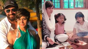 Mandira Bedi holds a hawan in the memory of her late husband Raj Kaushal, kids join her for the puja