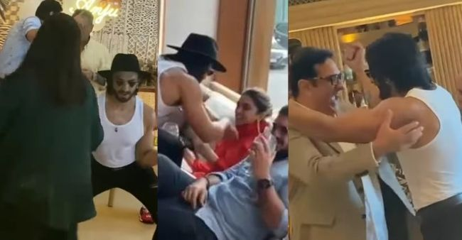 Ranveer Singh rocked the party with his dance in 'White Vest' for Deepika Padukone at mom's birthday
