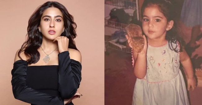 Saba Ali Khan reveals the first cell phone of Actress Sara Ali Khan in a throwback picture