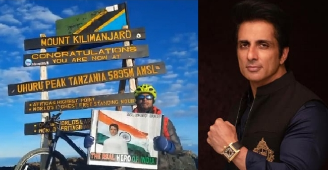 Mountaineer Uma Singh conquers Africa's TALLEST PEAK, dedicates his victory to Sonu Sood, says 'I wanted to do something for him'