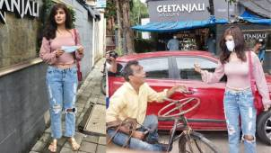 Rhea Chakraborty's kind gesture for a man on wheelchair touches fans hearts
