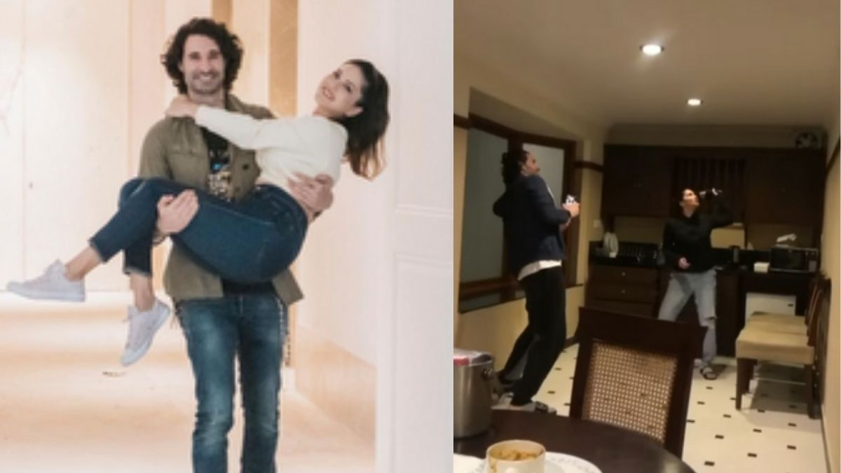 Sunny Leone shares a hilarious video 'Woman Vs Wild' of her and her husband,  says 'wait for the end to see Mr. Weber in action'