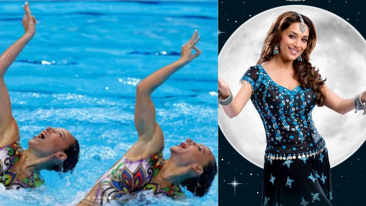 Madhuri Dixit's 'Aaja Nachle' performed by the Israeli swimmers in Tokyo Olympics