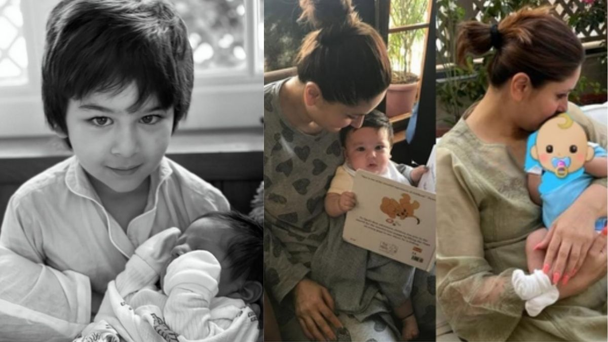 Kareena Kapoor Khan recreates the picture of her and Taimur with newborn son Jeh, calls them her 'world'
