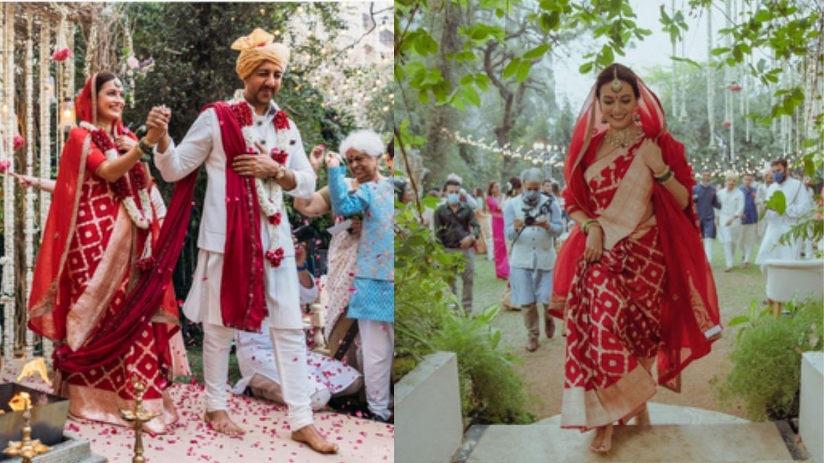 Dia Mirza shares an unseen picture from her wedding, seems to be the most happiest bride ever