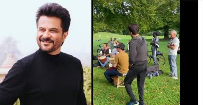 Anil Kapoor dances off in a mask less park in Munich, hopes the world to be fully vaccinated soon