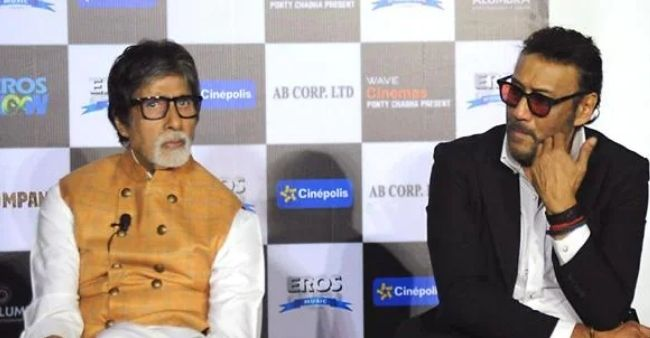Amitabh Bachchan gifts signed bow-tie to Jackie Shroff