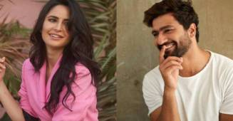 Rumoured couple Katrina Kaif and Vicky Kausal spotted at special screening for his film