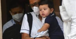 Jeh Ali Khan snapped by paparazzi looking cute as ever