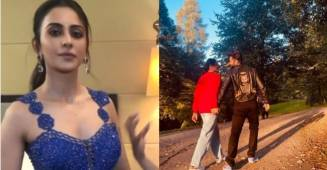 Rakul Preet Singh reacts as paparazzies asks about her birthday post with Jackky Bhagnani
